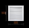 Решетка радиаторная 30х30