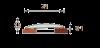 Порог «Изи» 24 мм